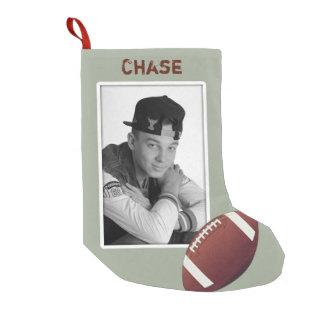 Football Teen Boy's Photo Christmas Stocking