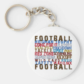 FOOTBALL TERMS KEYCHAIN