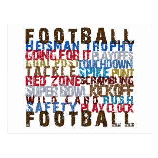 FOOTBALL TERMS POST CARD
