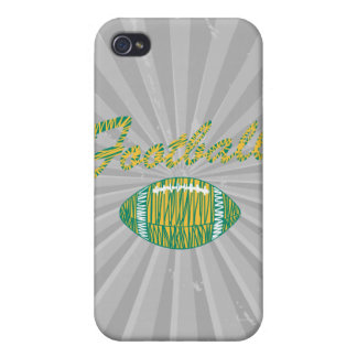 football text and ball orange gold and green iPhone 4 covers