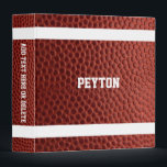 "Football Texture Personalized 3 Ring Binder<br><div class=""desc"">Head off to school,  work or practice with this Binder that makes your Football Fantasy come true. Customize with a name or team name,  or add text to the spine.</div>"