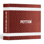 Football Texture Personalized 3 Ring Binder<br><div class='desc'>Head off to school,  work or practice with this Binder that makes your Football Fantasy come true. Customize with a name or team name,  or add text to the spine.</div>