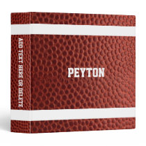 Football Texture Personalized 3 Ring Binder