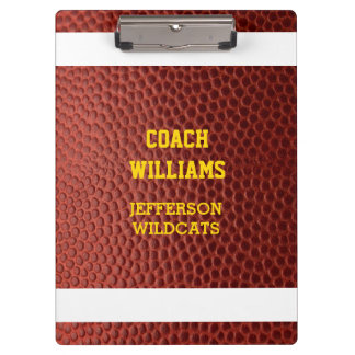 Football Texture Personalized Clipboard