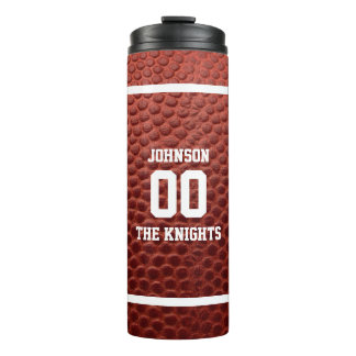 Football Texture Personalized Thermal Tumbler