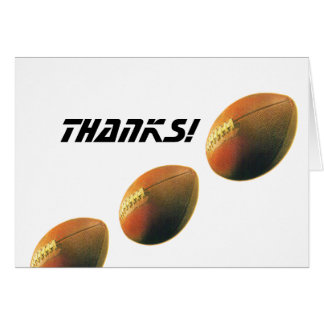 Football-Thanks! Stationery Note Card