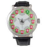 Football Theme featuring Red & White Shirts Wrist Watch