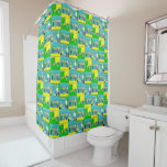 Football Theme Players and Cheering Fans Shower Curtain