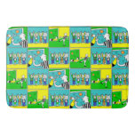 Football Theme Players and Fans Bathroom Mat