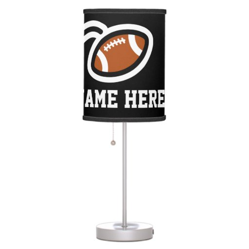 Football theme table lamp design personalizable zazzle for Design table lamp giffy 17 7