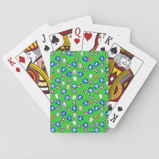 Football Theme with Blue Shirts Playing Cards
