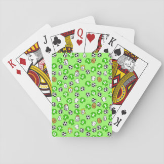Football Theme with Green Shirts Playing Cards