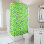 Football Theme with Green Shirts Shower Curtain