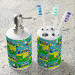 Football Theme with Players and Fans Bath Set