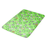 Football Theme with Shirts in Green Bathroom Mat