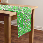 Football Theme with White Shirts Short Table Runner
