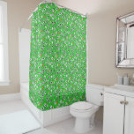 Football Theme with White Shirts Shower Curtain