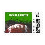 Football Themed Bar Bat Mitzvah Invitation Invite Stamps