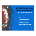 Football Themed Bar Bat Mitzvah Reply Card Announcements