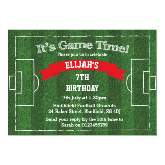 Football themed birthday party invitation