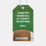 Football Themed Favor Tags