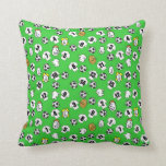 Football themed with shirts in white throw pillow