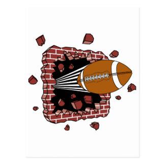 Football Through A Wall Postcard
