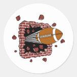 Football Through A Wall Sticker