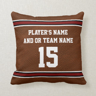 Football Throw Pillows PERSONALIZED with Your Text