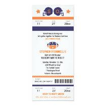 Football Ticket Bachelor Party Invitation