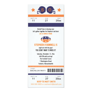 Football Ticket Bachelor Party Invitation