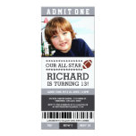 Football Ticket Birthday Invites at Zazzle