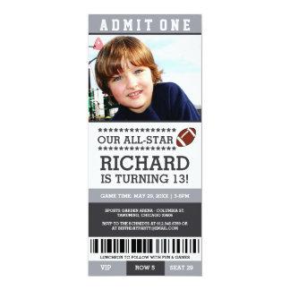 Football Ticket Birthday Invites