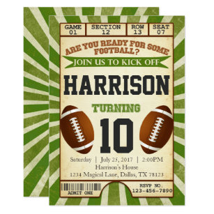 football party invitations zazzle