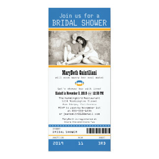 Football Ticket Bridal Shower Card