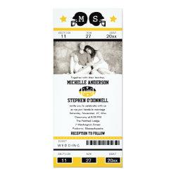 Football Ticket Wedding Invitation 4