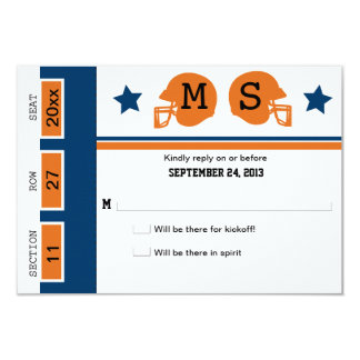 Football Ticket Wedding RSVP Card