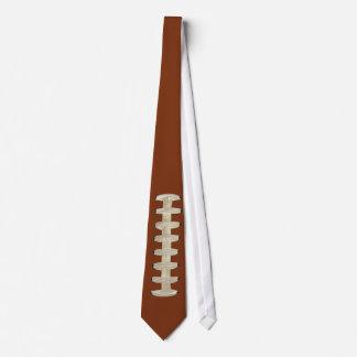 Football Tie, Brown, Laces Neck Tie