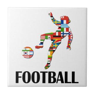 Football Small Square Tile