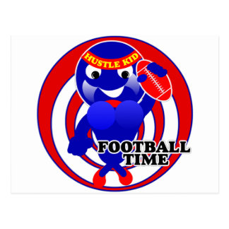 FOOTBALL TIME HUSTLE KID POSTCARD