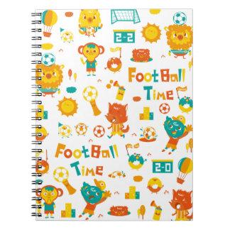football time! spiral notebook