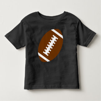 FOOTBALL TODDLER Black | Front Football Graphic Toddler T-shirt