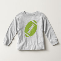 FOOTBALL TODDLER Gray | Front Lime Football Toddler T-shirt