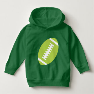 FOOTBALL TODDLER Green | Front Lime Football Hoodie