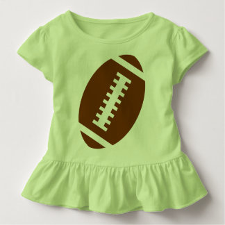 FOOTBALL TODDLER Lime | Front Football Graphic Toddler T-shirt
