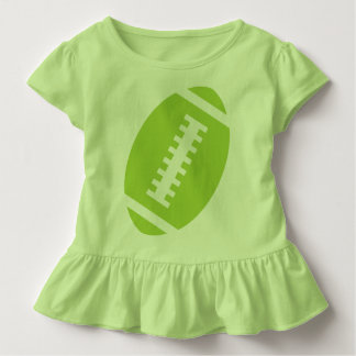 FOOTBALL TODDLER Lime | Front Lime Green Football Toddler T-shirt