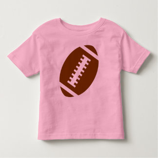 FOOTBALL TODDLER Pink | Front Football Graphic T-shirts