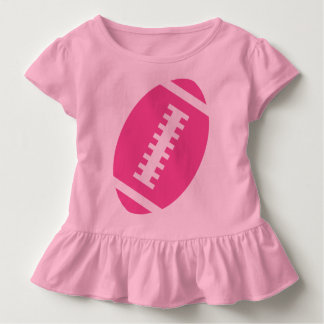 FOOTBALL TODDLER Pink | Front Pink Football Toddler T-shirt