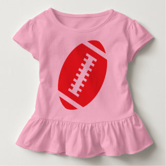 FOOTBALL TODDLER Pink | Front Red Football Toddler T-shirt