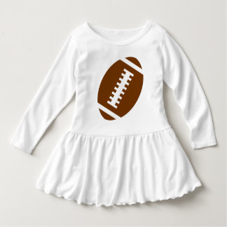 FOOTBALL TODDLER White | Front Football Graphic Dress